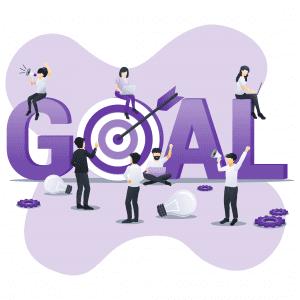 Illustration - Business people goal