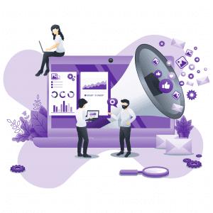 Illustration internet chat